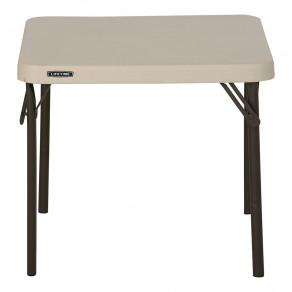 Складной детский стол LIFETIME 80425 Essential (61 x 61 x 54 см) Бежевый/Песочно-Бронзовый