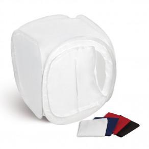 Лайт куб для предметной съемки Mircopro LT-011 80x80x80 см белый с 4 фонами
