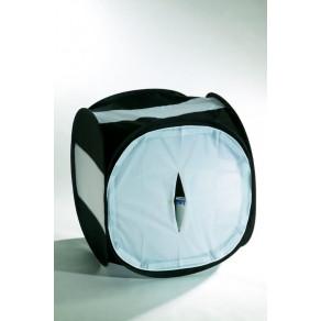 Лайт куб для предметной съемки Mircopro LT-016 80x80x80 см черный с белым фоном