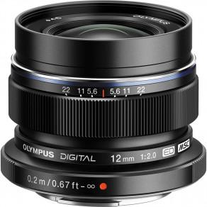 Объектив Olympus M.Zuiko Digital ED 12mm f/2 Black (EW-M1220)
