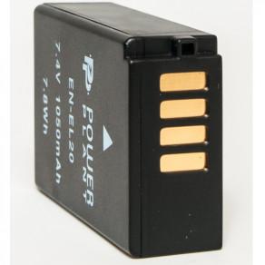 Аккумулятор PowerPlant Nikon EN-EL20 1050mAh (DV00DV1306)