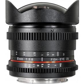 Объектив Samyang Canon-EF 8mm T3.8 Fisheye VDSLR