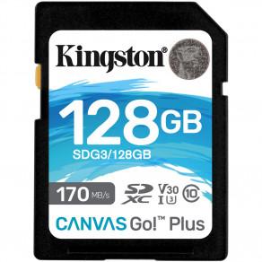 Карта памяти SD Kingston Canvas Go! Plus 128GB UHS-I, U3, V30 (R170/W90)