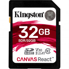 Карта памяти SDHC Kingston 32GB C10 UHS-I U3 (R100/W70)