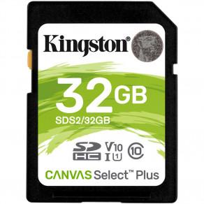 Карта памяти SD Kingston Canvas Select Plus 32GB UHS-I, U1, V10 (R100)