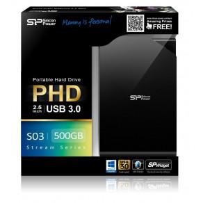 Жесткий диск Silicon Power Stream S03 500GB Black (SP500GBPHDS03S3K)