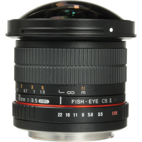 Объектив Samyang Pentax-KAF 8mm f/3.5 AS IF UMC Fisheye CS II