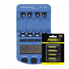 Интеллектуальное зарядное устройство для аккумуляторов AA/AAA Technoline BC-1000 Kit 4xAA Powerex 2600