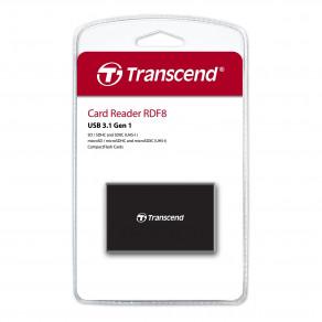 Кардридер универсальный Transcend All-in-1 USB 3.1-microUSB 3.0 Black (TS-RDF8K2)