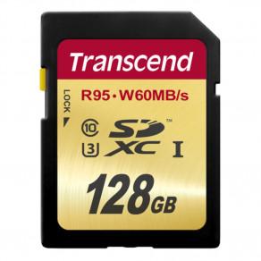 Карта памяти Transcend Ultimate SDXC 128GB Class 10 UHS-I U3 (TS128GSDU3)
