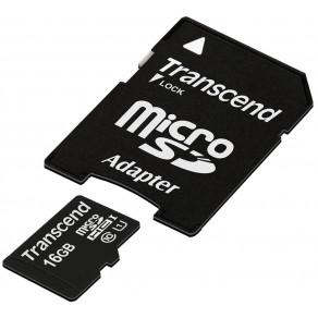 Карта памяти Transcend Premium microSDHC 16GB Class 10 UHS-I (TS16GUSDU1)