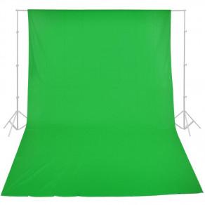 Фон тканевый MyGear зеленый хромакей WOB-2002 - 3х4 м