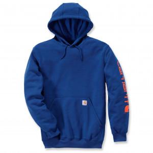 Худи Carhartt Sleeve Logo Hooded Sweatshirt K288 (Superior Blue)