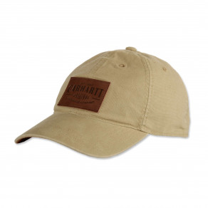 Кепка Carhartt Rigby Stretch Fit Leatherette Patch Cap - 103534 (Dark Khaki)