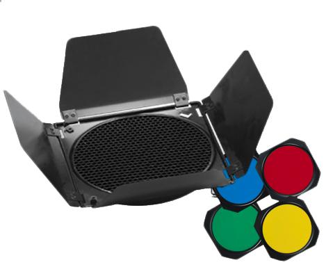 mircopro Набор (шторки, соты, цветные фильтры) Mircopro BD-200 для стандартного рефлектора