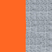 bright orange/heather grey